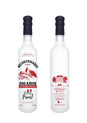 botella de pisco de bicentenario 200 años
